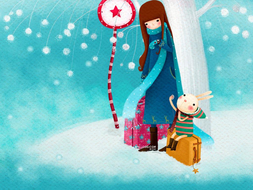 Cute Wallpapers Com 桌布天堂 韓國插畫名家系列 Echi 插畫桌布(第二集) 10